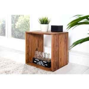 Angel Furniture Rosewood Glossy Finish Brown Square Side End Table, AF-114
