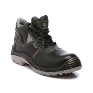 Agarson Hummer Steel Toe Black Safety Shoes, Size: 10