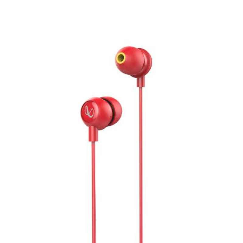 Infinity by Harman Wynd 220 Red Pure Bass Wired in Ear Earphone with Mic, INFWYD220RED