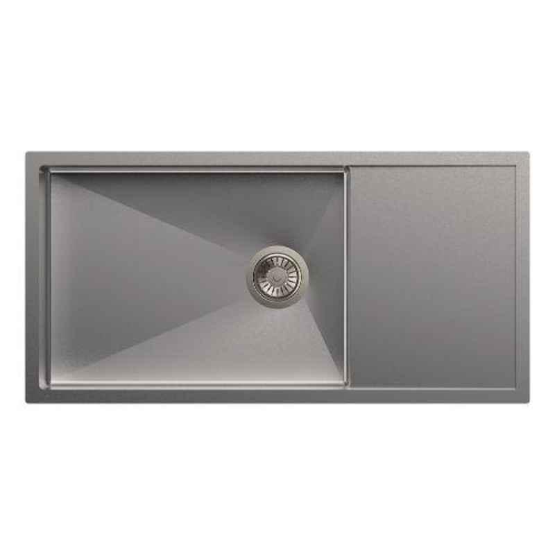 Carysil Micro Radius R10 Single Bowl Stainless Steel Matt Finish Kitchen Sink, Size: 36x18x8 inch