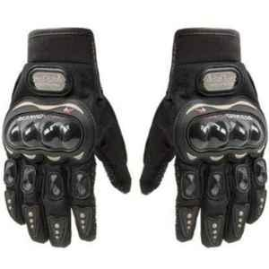 Probiker Synthetic Leather Black Motorbike Gloves
