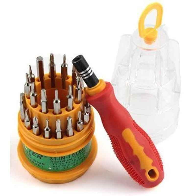 Freakonline 31 in 1 Repairing Interchangeable Precise Screwdriver Tool Kit with Magnetic Holder