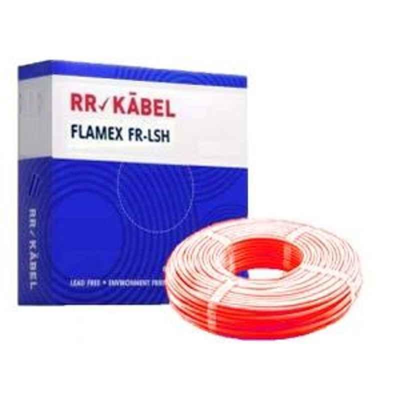RR Kabel 6Sqmm Red Flame Retardant Low Smoke Halogen Cable Red, Length: 90m