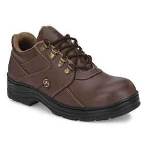 Timberwood TW61BRN Leather Steel Toe Brown Safety Shoe, Size: 8