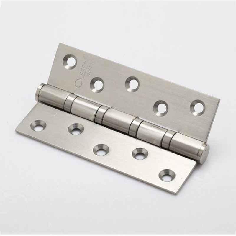 Smart Shophar 3x1.5x3 inch Brass Nickel Silver Bearing Hinge, SHA10HG-BEAR-NS3X1.5X3-P1