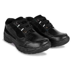 Trxxble 1103 Leather Steel Toe Black Safety Shoes, Size: 6