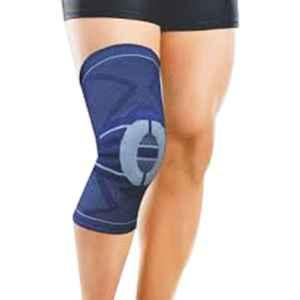 Dyna 3D Small Grey Knitted Knee Brace (Left), 0925-042