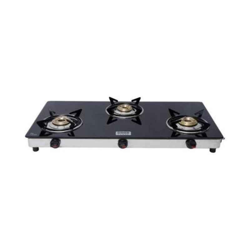 Good Flame Eco Slim 3 Burners Manual Ignition Glass Gas Stove, GF035