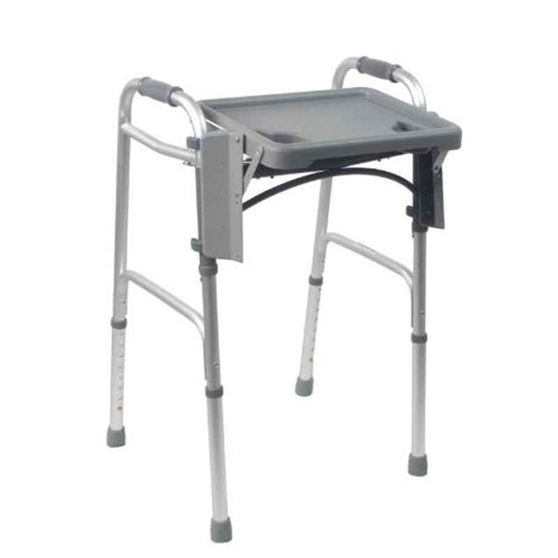 KosmoCare 32 39 inch Silver Premium Imported Folding Walker with Tray, RX209