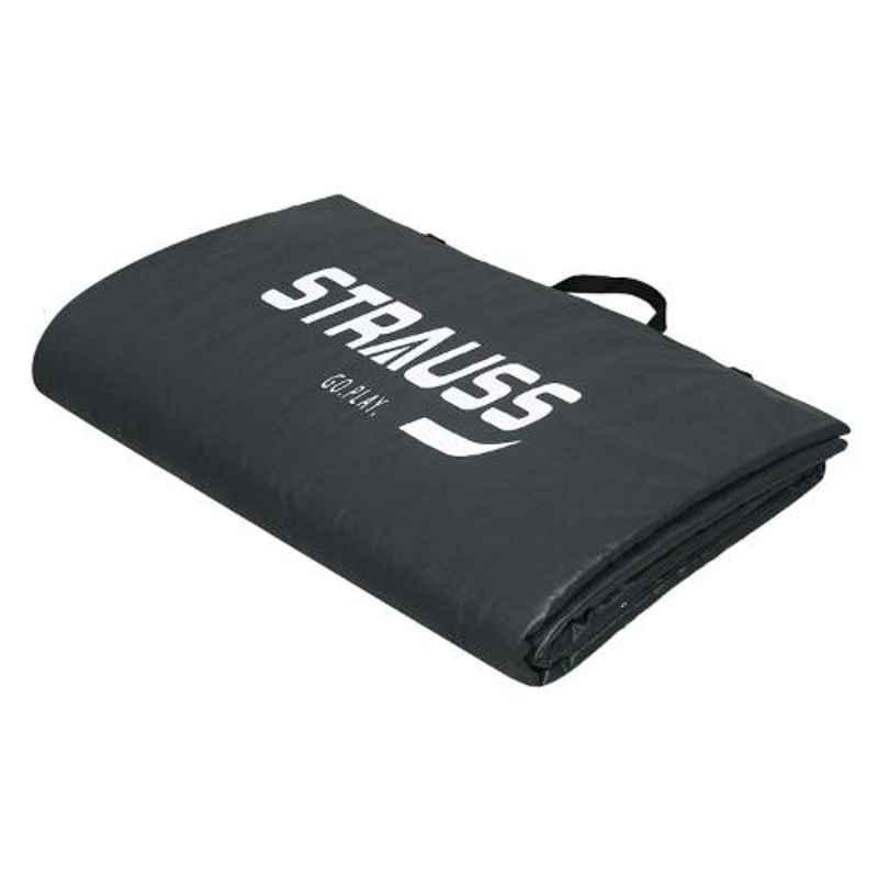 Strauss 68x24 inch 10mm Grey Foldable Yoga Mat, ST-1618