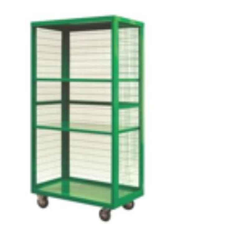 Suwas 1000x500x1500mm 700kg Steel Material Handling Cage Box Trolley, SU-MHCT-006