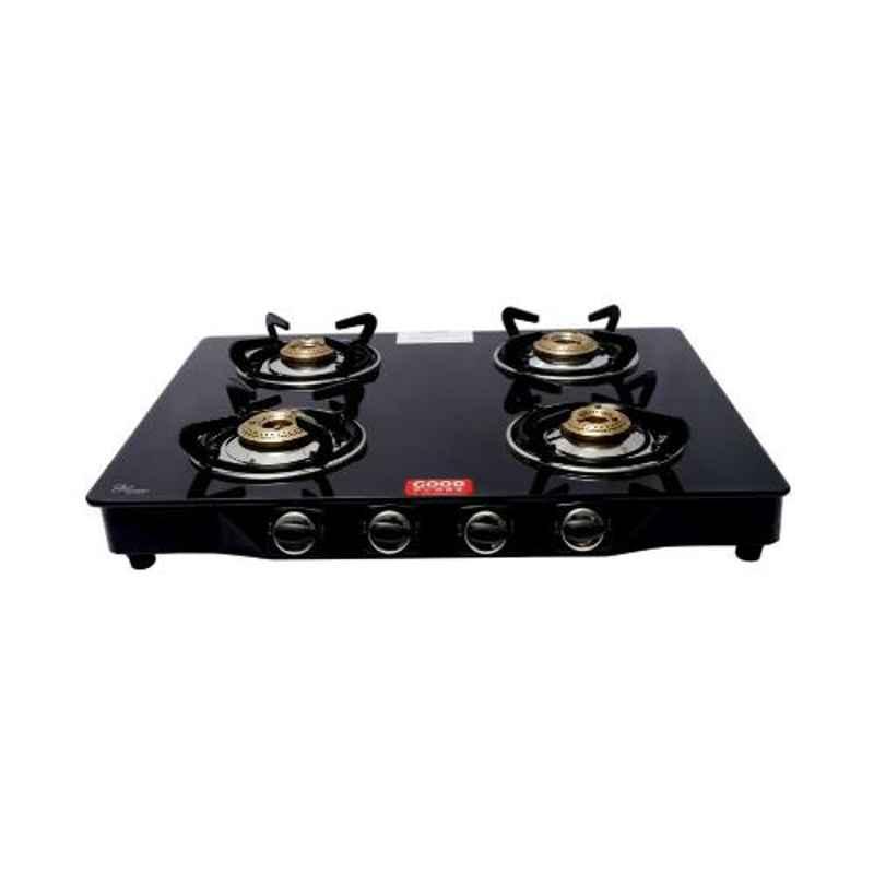 Good Flame Regular 4 Burners Manual Ignition Glass Gas Stove, GF036