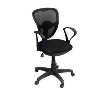 Arko Black Medium Back Adjustable Push Back Ergonomic Chair, 809