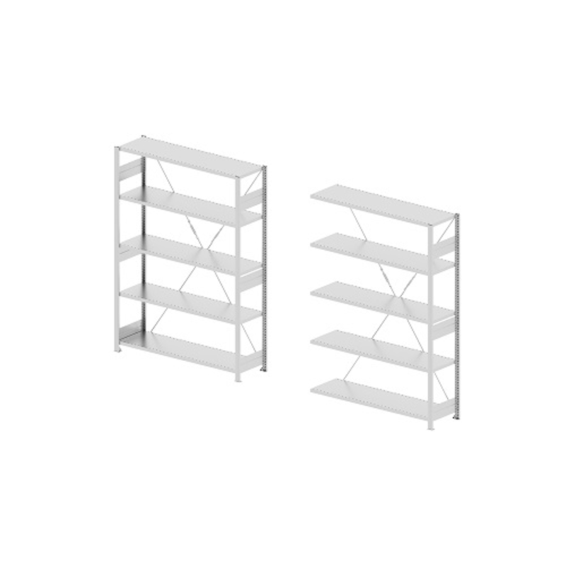 Godrej Altius Lite 1000x400x2200mm Steel Light Grey Storage Rack with 5 Layers (Pack of 2)