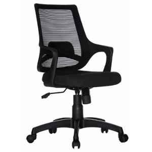 Teal Clio Mesh Fabric Black Mid Back Office Chair, 19002172