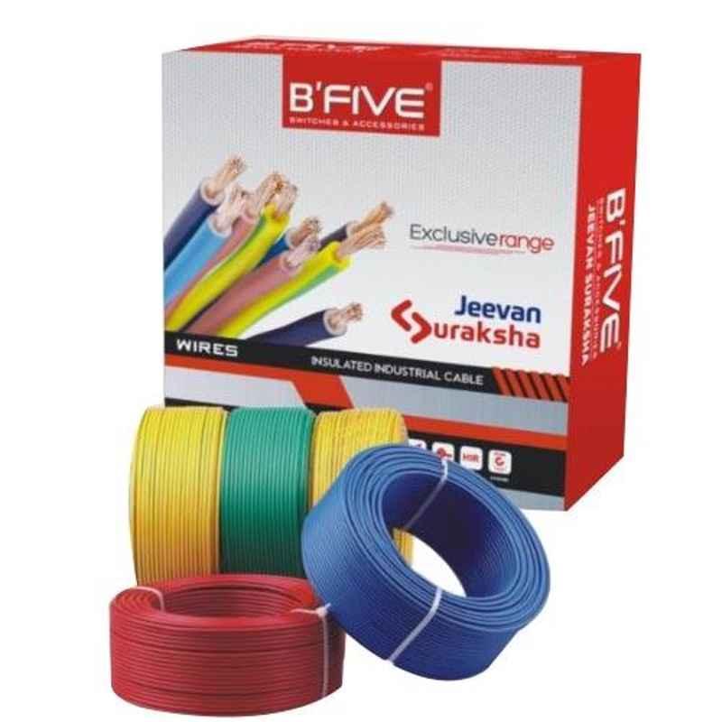 B-Five 4 Sqmm PVC Blue Industrial Wire, Bsf-456Bl