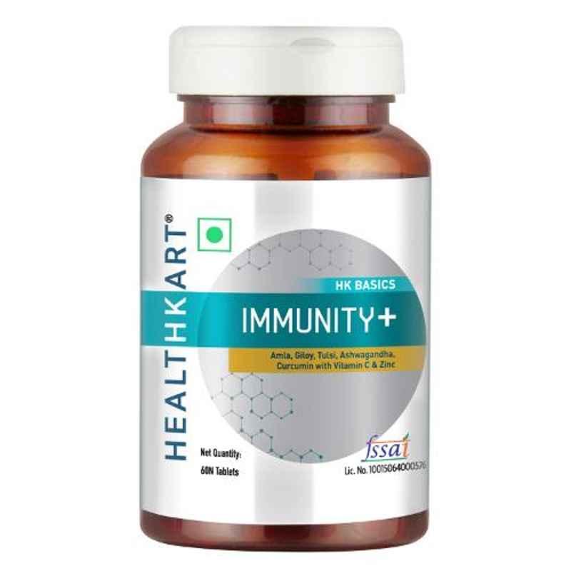 Healthkart 60 Pcs Immunity + Unflavoured Tablets, HNUT15383-01