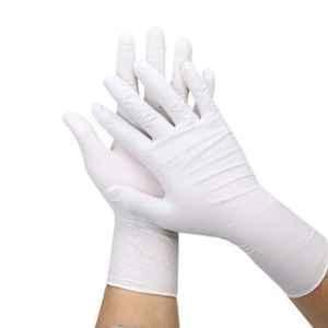 Bluekites 100 Pcs Medium White Nitrile Gloves Box