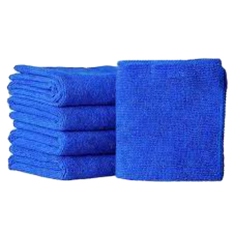 Viva City Blue Microfiber & Cotton Car Cleaning Cloth, (Pack of 5)
