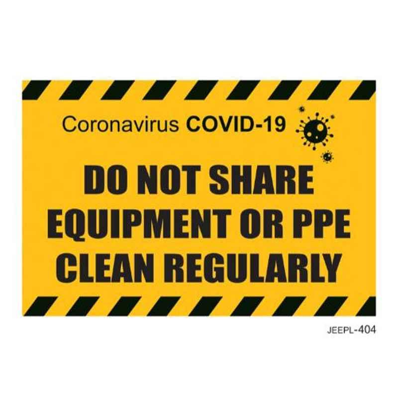 Jeepl do not Share Equipment Sticker, jeepl-404