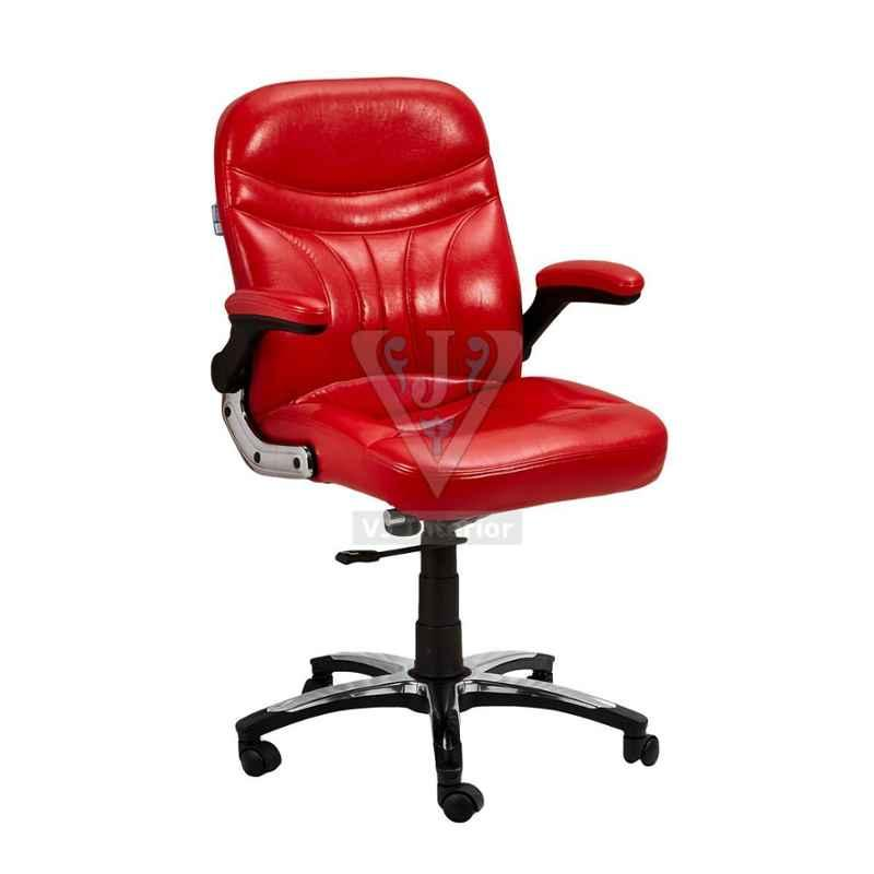 VJ Interior 19x20 inch Cherry Low Back Executive Leather Chair, VJ-1436