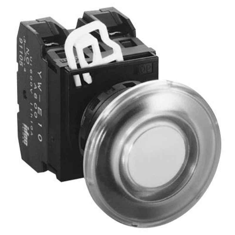 Idec 40 mm 24V Momentary Mushroom Green Incandescent Illuminated Pushbutton, YW1L-M4E02Q7G