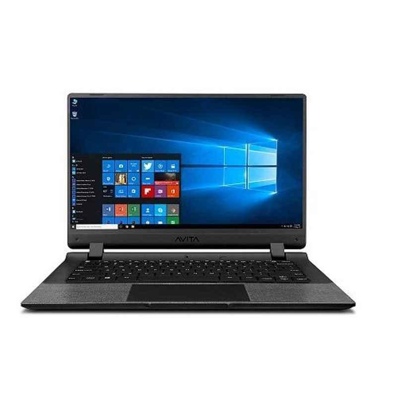 AVITA Essential Intel Celeron N4000/4GB RAM/128GB SSD/Window 10 Home/Intel UHD Graphics 600 & 14 inch Full HD Display Matt Black Laptop, NE14A2INC433-MB