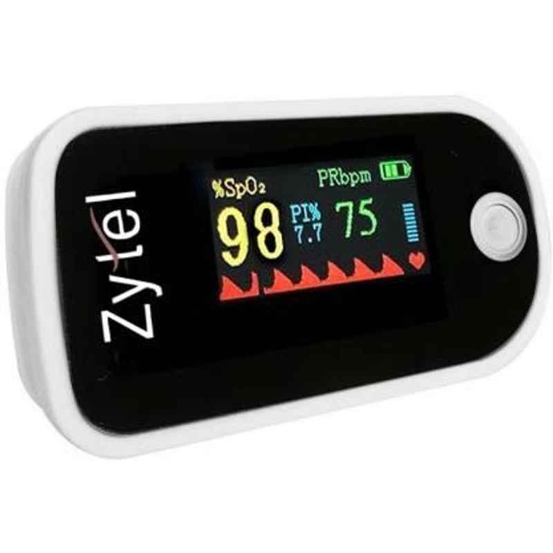 Zytel ZA Black Fingertip Pulse Oximeter with OLED Display