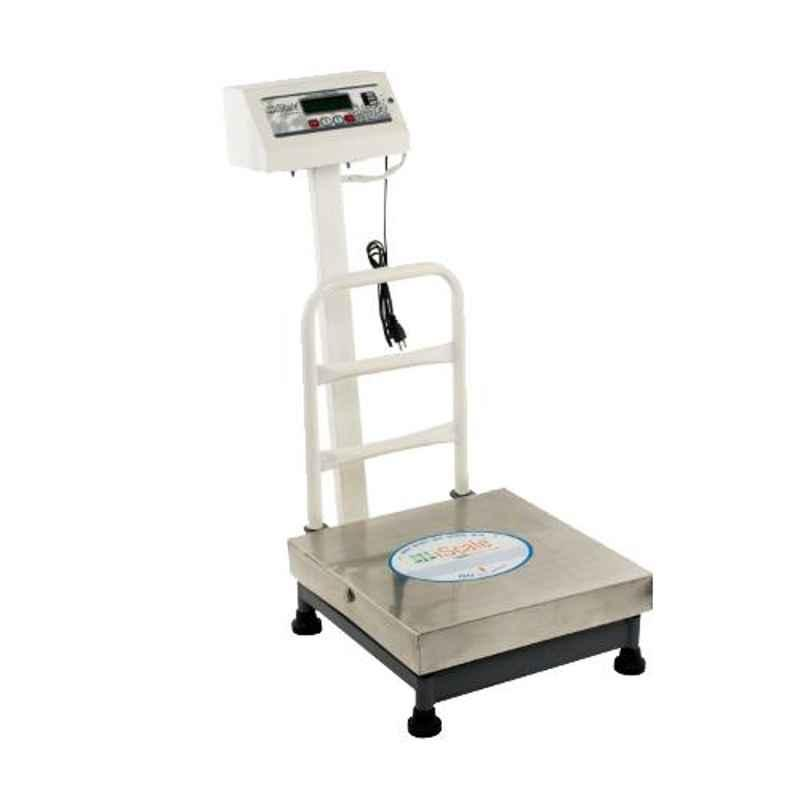 iScale 60kg and 10g Accuracy Industrial Heavy-Duty Stainless Steel Platform Weighing Machine with Front and Back Double Display