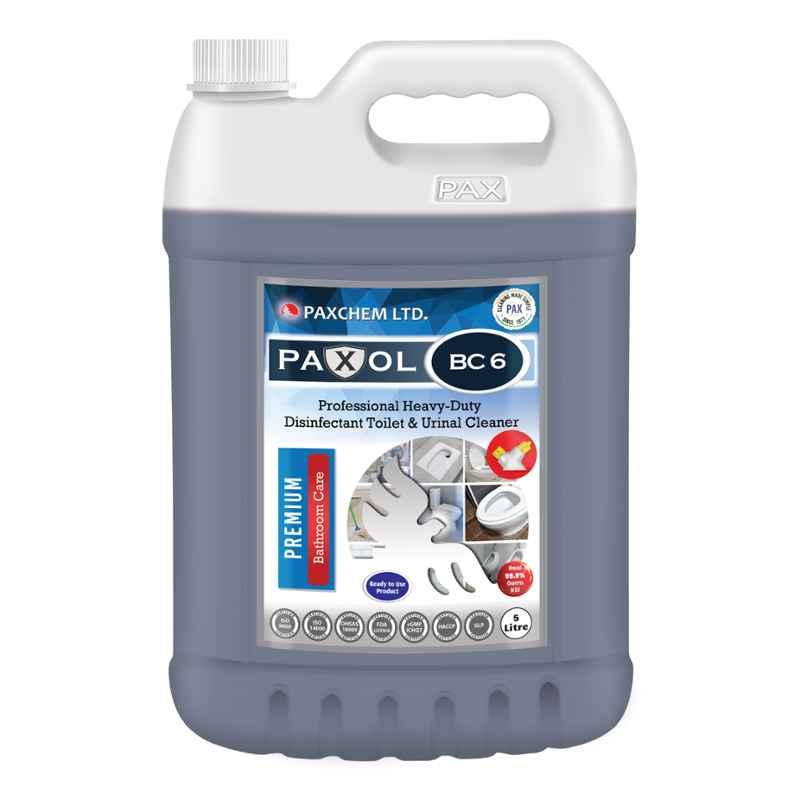 Paxol BC 6 Professional Heavy-Duty Disinfectant Toilet Bowl & Urinal Cleaner, 5L