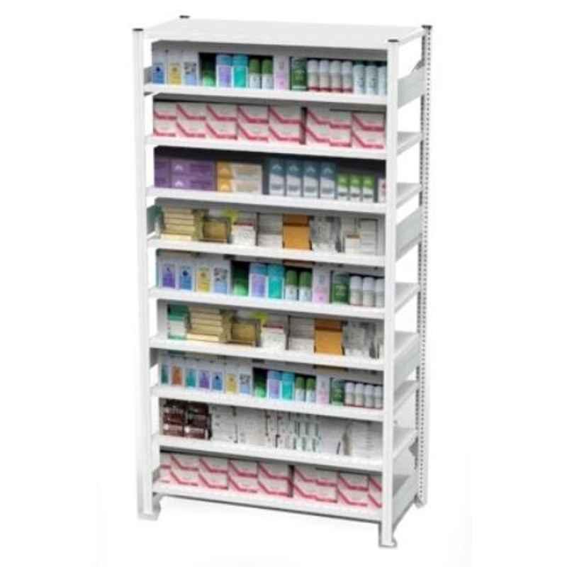 Godrej Altius Lite 1000x400x2500mm Steel Light Grey Storage Rack with 5 Layers