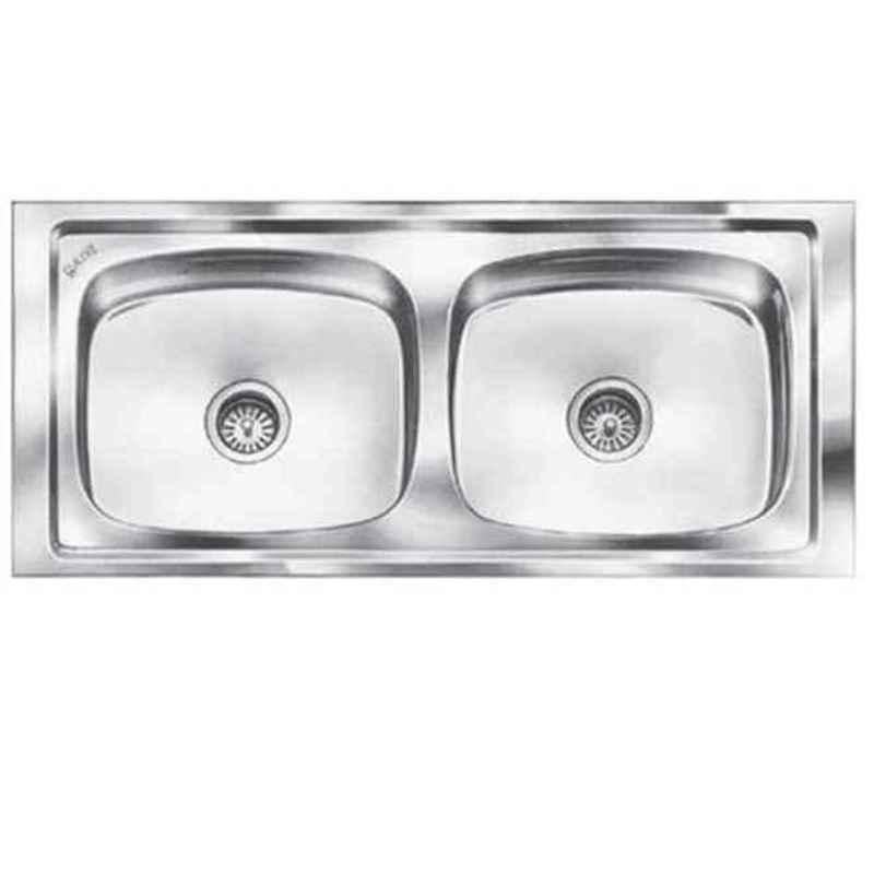 Steelkraft 37x18x8 inch Stainless Steel Double Bowl Kitchen Sink, DS-120B