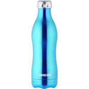 Haers 500ml Stainless Steel Blue Beverage Bottle, HKL-500WB-BLU
