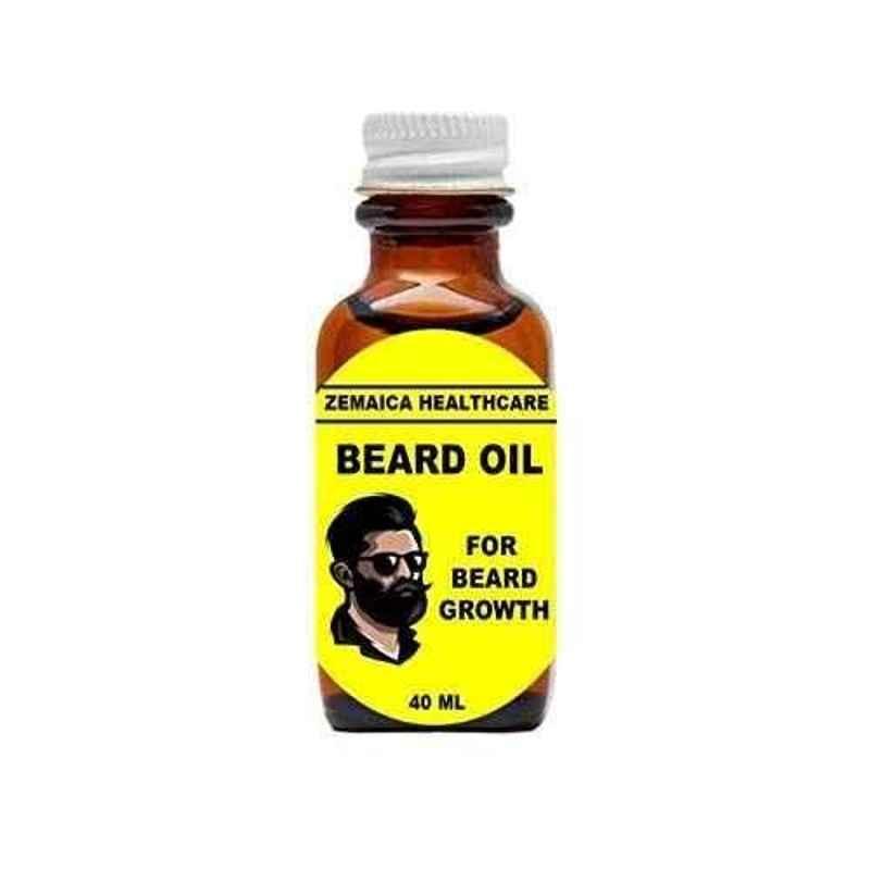 Zemaica Healthcare 40ml Beard Growth Hair Oil (Pack of 2)
