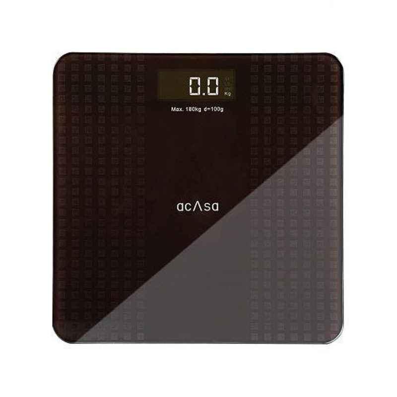 Acasa Digiscale Silica 180kg Brown & Grey Digital Weighing Machine