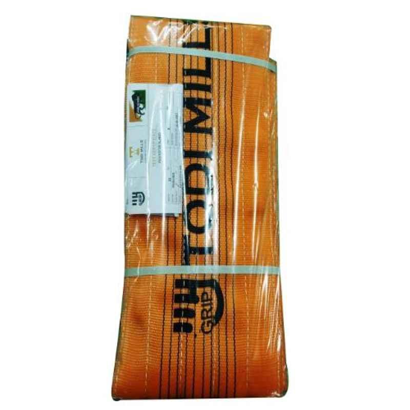 Grip 250mm 10 Ton 8m Orange Polyester Sling