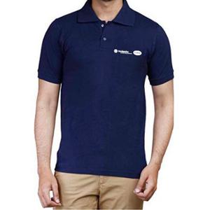 Generic Customised Navy Blue Polycotton T-shirt, Size: XL