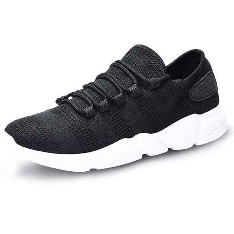 Wonker 6252 Canvas Steel Toe Black Safety Shoes, Size: 7
