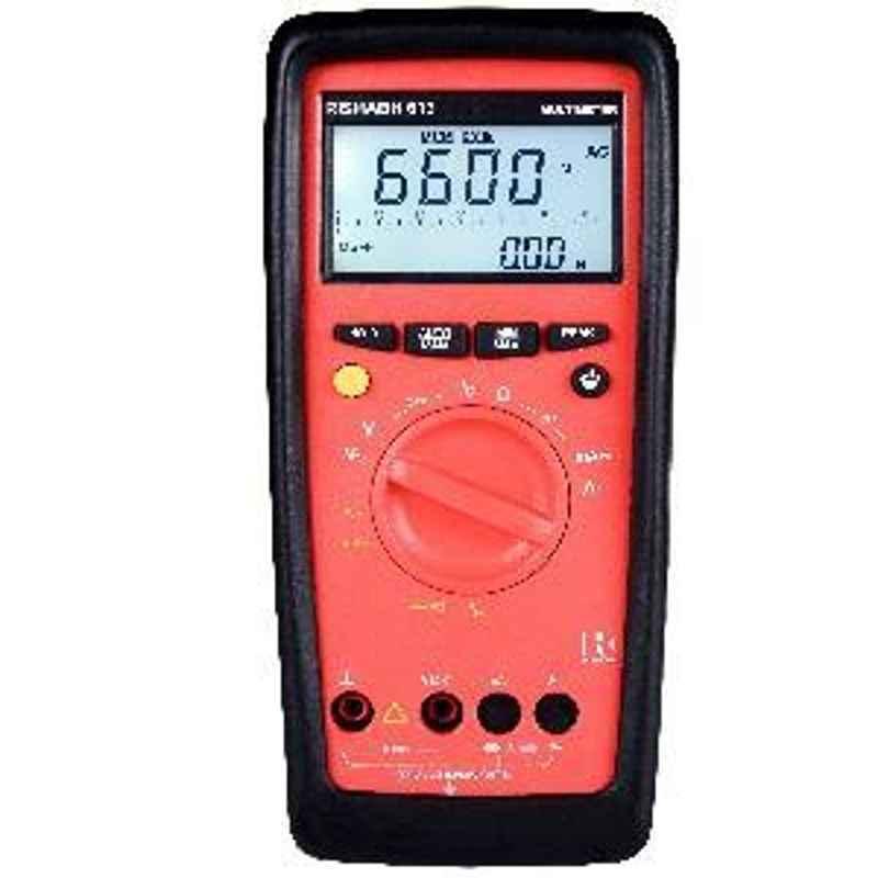 Rishabh 613 Digital Multimeter DC Current Range 10µA to 16A