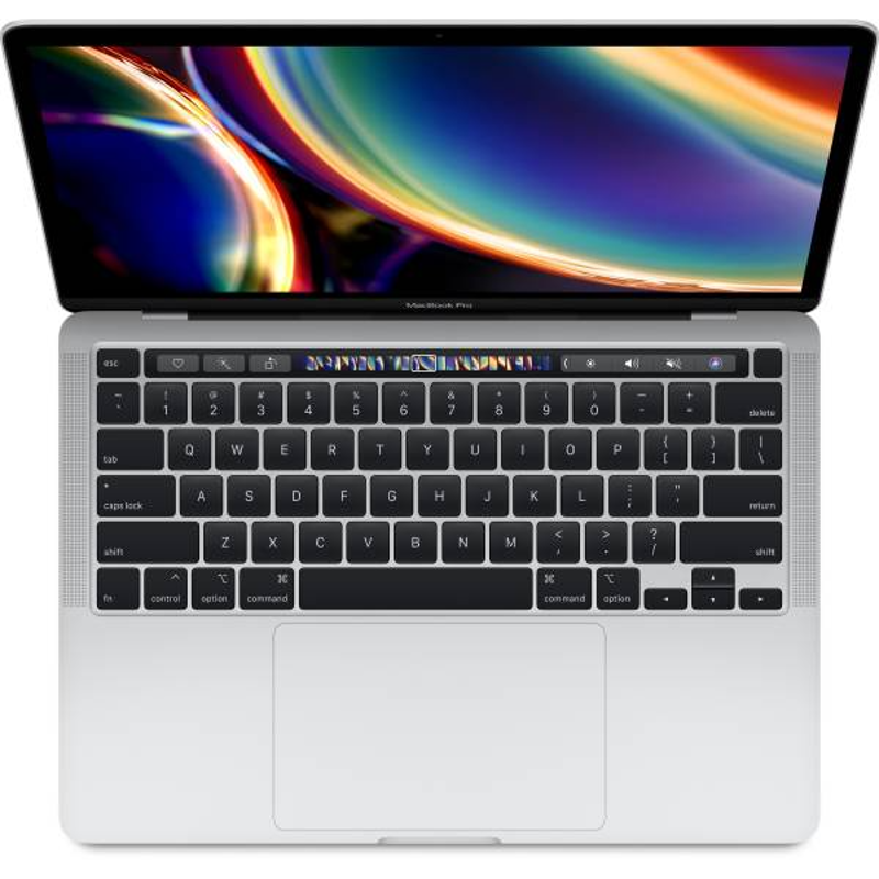 Apple 13-inch MacBook Pro with Touch Bar: 2.0GHz quad-core 10th-generation Intel Core i5 processor, 512GB, 16GB-Silver, MWP72HN/A