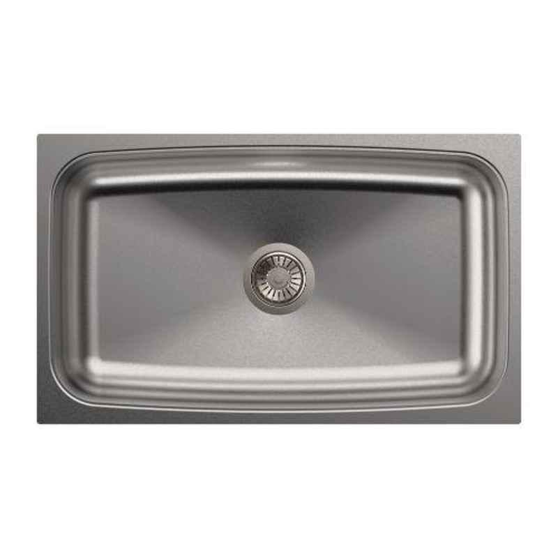 Carysil Elegance Single Bowl Stainless Steel Matt Finish Kitchen Sink, Size: 30x18x8 inch
