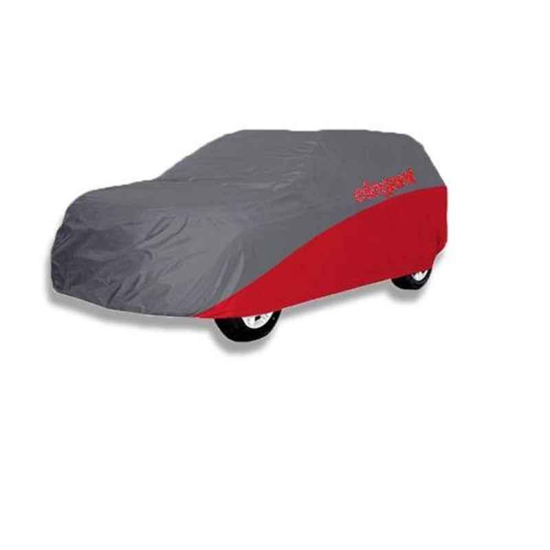 Elegant Grey & Red Water Resistant Car Body Cover for Maruti Suzuki Baleno 2015 Onwards