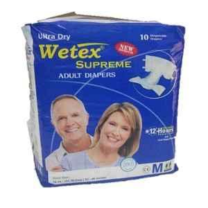 Wetex Supreme 10 Pcs Medium Adhesive Band Adult Diaper (Pack of 5)