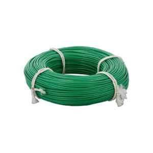 KEI 35 Sqmm Single Core HRFR Green Copper Unsheathed Flexible Cable, Length: 100 m