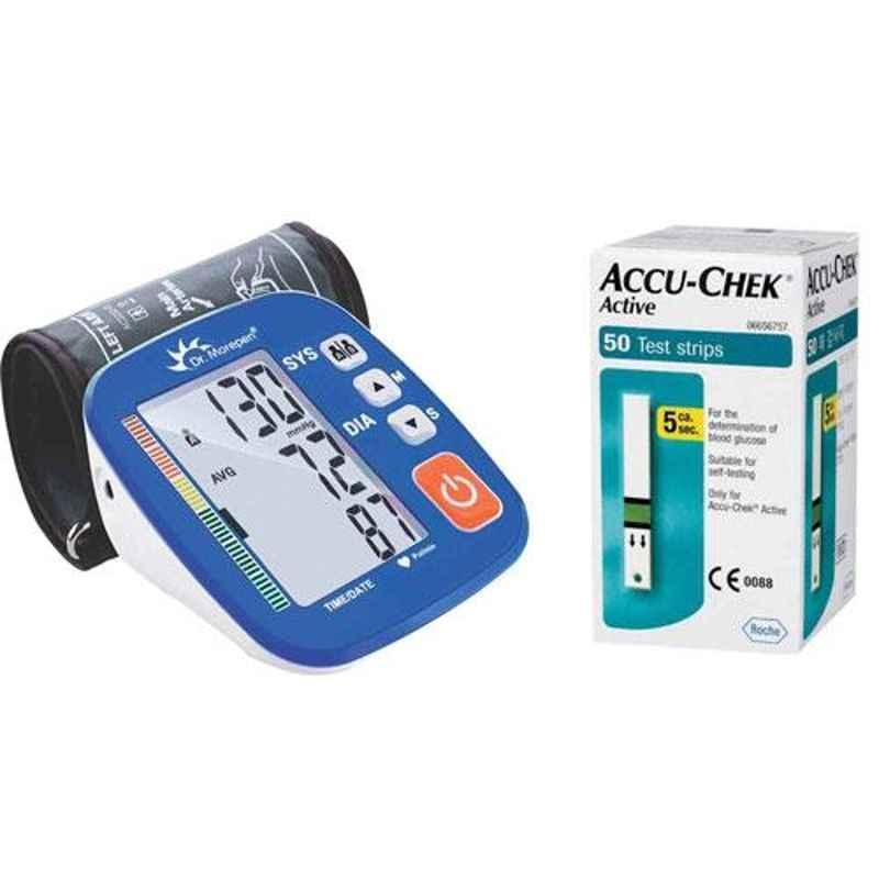 Dr. Morepen BP-02-XL Blood Pressure Monitor & Accu-Chek Active 50 Test Strips
