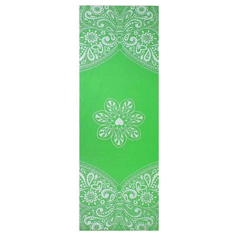 Strauss 1730x610x5mm Green Meditation Butterfly Yoga Mat with Cover, ST-1412