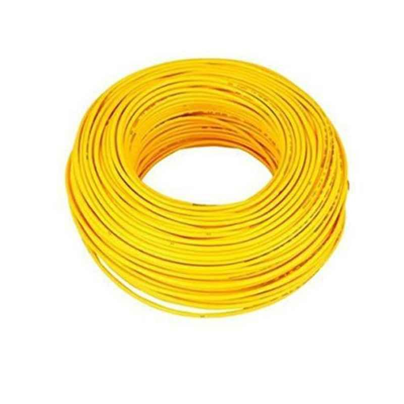 Cabsun 1 Sqmm Yellow Single Core FR PVC Insulated Copper Electrical Wire