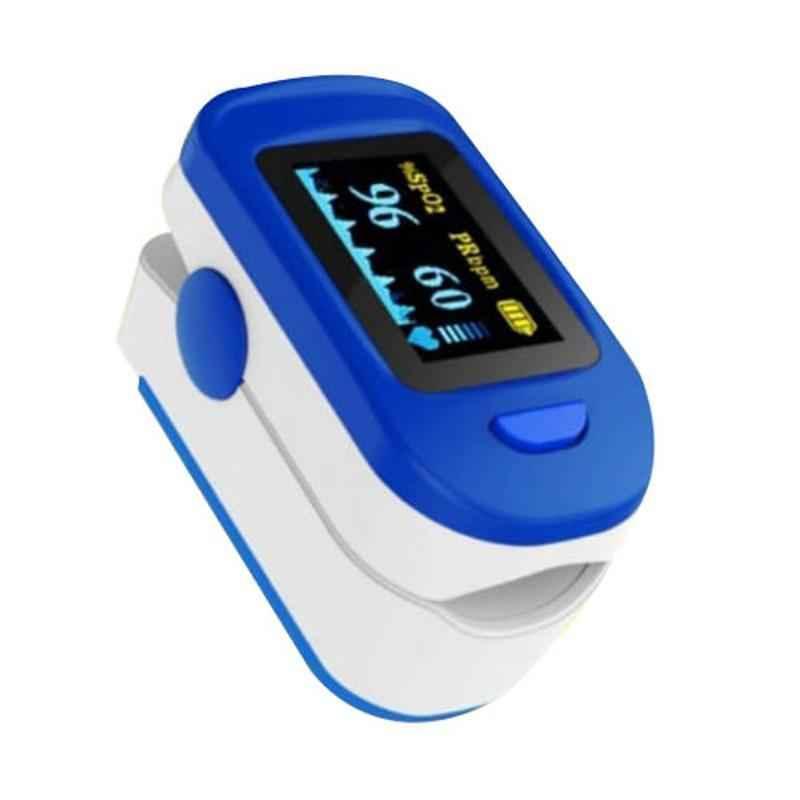 AccuSure FS10C Blue & White Fingertip Pulse Oximeter