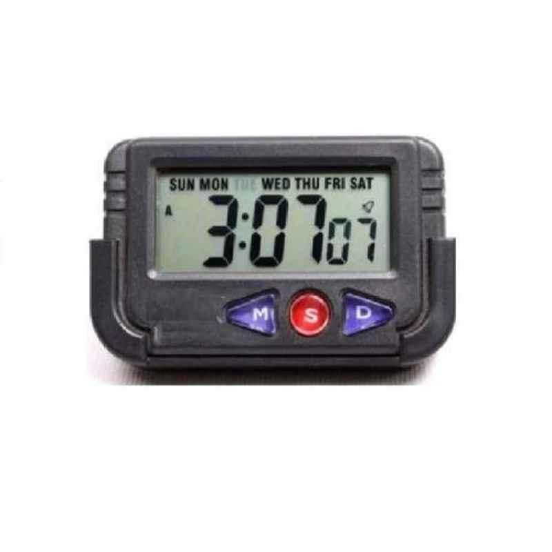 Viva City Black Plastic Car Dashboard Alarm Clock