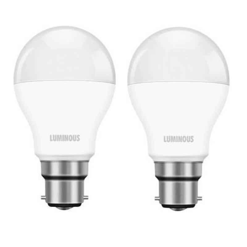 Luminous Shine Pro 15W B22 Cool Daylight LED Bulb, TLM0PDB2RCD15 (Pack of 2)